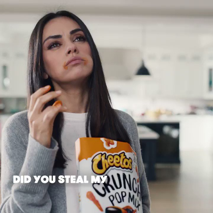 This is what happens when you lock Mila and I in a house together for a year @ChesterCheetah #ItWasntMe #SBLV #Ad