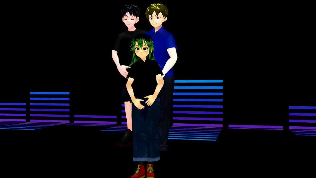 【Vroid】三人でClassic踊ってみた【MMD】  #sm37272097 #ニコニコ動画