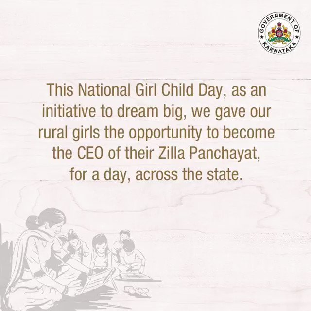This National Girl Child Day, the Zilla #Panchayats saw little #girls become CEOs for a day. To boost our country's girl population's confidence, this initiative helped spread the message that rural girls can #dreambig and #achieve everything they want. #NationalGirlChildDay2021