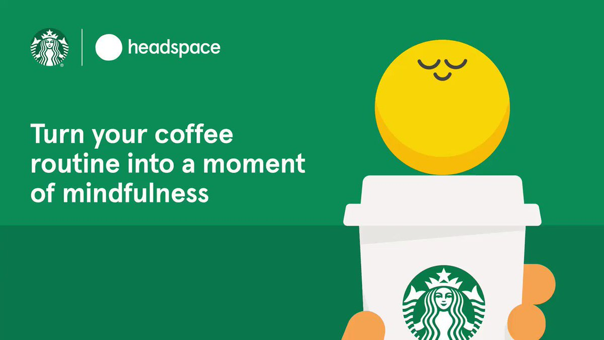 We teamed up with @Headspace on 5 mindfulness exercises to help you savor your coffee moment even more. They're available for free, for everyone. ☕