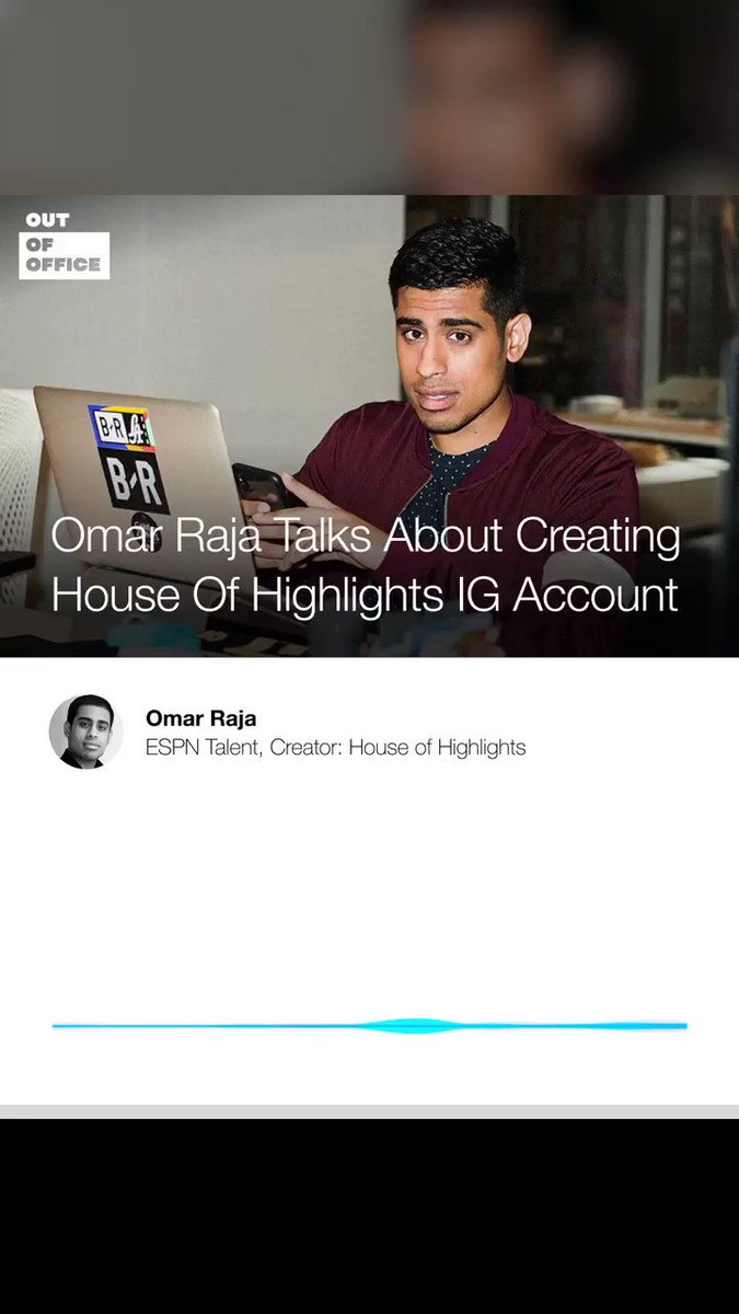 New #OutOfOffice w/ @OmarESPN  -  Omar talks about how he started House of Highlights as a college student & the acquisition process w/ @BleacherReport - His very early days as an entrepreneur - His goals for the future w/ ESPN & much more  Listen 🎙→