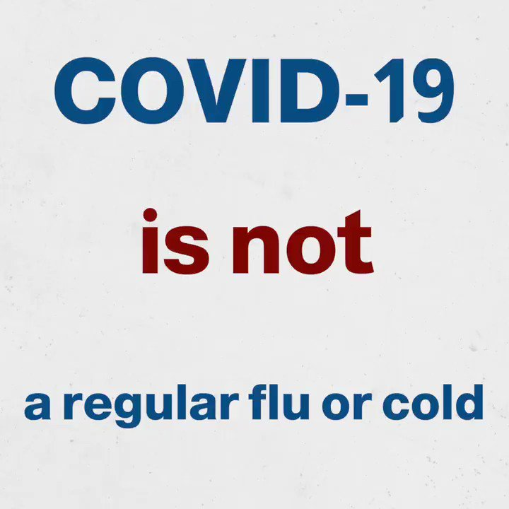 Hope you are following the 3Ws. Remember this is #COVID19, not a regular cold or flu.    #TimetoAbide by the preventive measures  😷 Wear a mask ↔️ Watch your distance 🧼 Wash your hands  Via @WHOSEARO