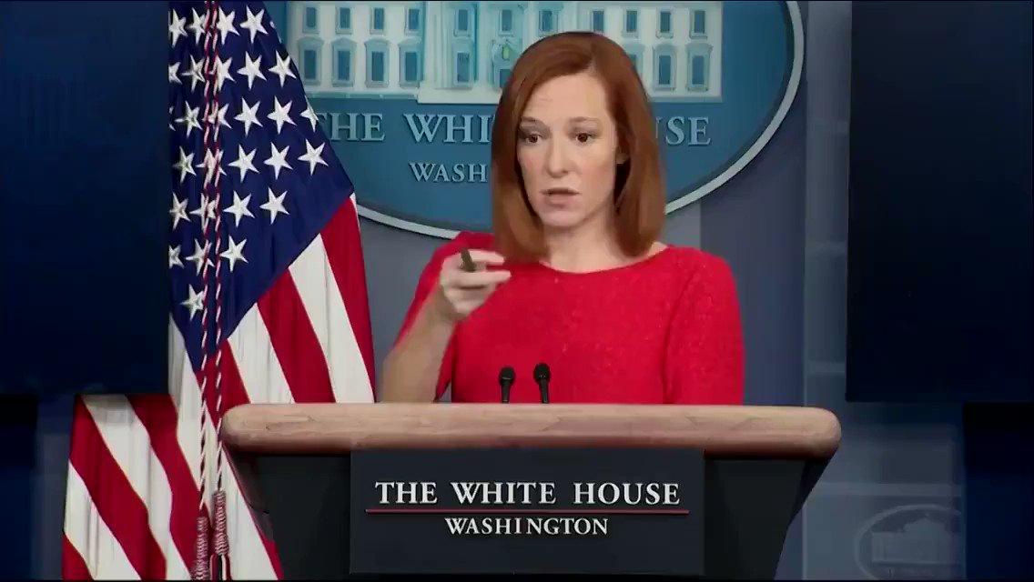 どうしても😊マクナニー報道官と比べてしまいますが😂Psaki報道官はバイデン氏のサインした大統領令の内容すら知らず逆に報道記者に聞く有り様😑