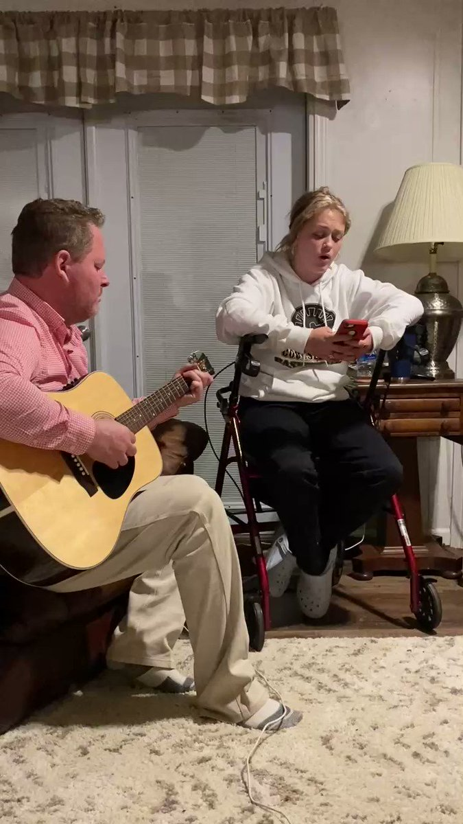 me and pops winging it on this new to us song, even though it isnt perfect this moment was beautiful💓