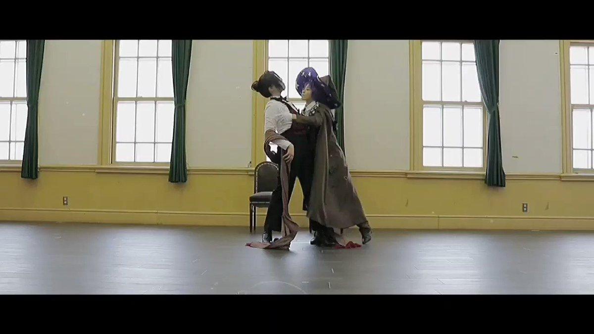 ⚠︎コスプレ動画【告知】ムルの誕生日(2月11日)に愛憎で踊ってみたを投稿予定です!あたたかく見守ってね🥳🥳ムル:て て(@PoooN_tt)シャイロック:むうむう