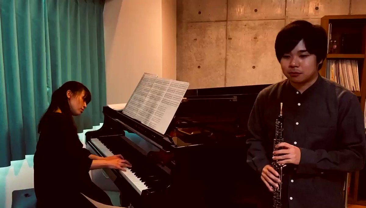 インコの動画ばかりあげてる気がするのと、最近いくつか本番がなくなってしまったので…演奏動画を撮影してみました!😌もしよろしければお聴きください🙇♂️森亮平:ピアノとオーボエのためのソナタより 第2楽章全編はこちら!