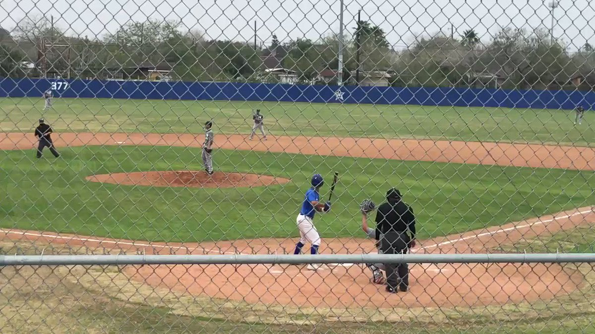 Hot bat for this freshman today, his arm as strong as his bat !!!!!! Hope for a great season!!!!!!