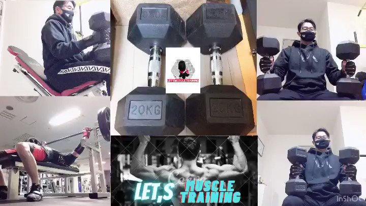 Let's 筋トレ:肩😆胸トレ念願のダンベルを買ったので、早速宅トレしてみました💪ショルダープレス/アーノルドプレス/インクラインプレス/ベンチプレスをやってみました😆#肩トレ #肩トレーニング #arnoldpress #筋トレ#筋トレ動画 #workout#workoutmotivation #フィットネス #a7intl