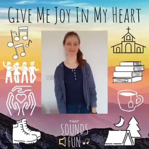What brings you joy??☀️🎶🌸  #thatsoundsfun #singhosanna #SundayHymn #givemejoyinmyheart #joyful #stayhappy #feelinggrateful #keepsinging #songaday #singalong