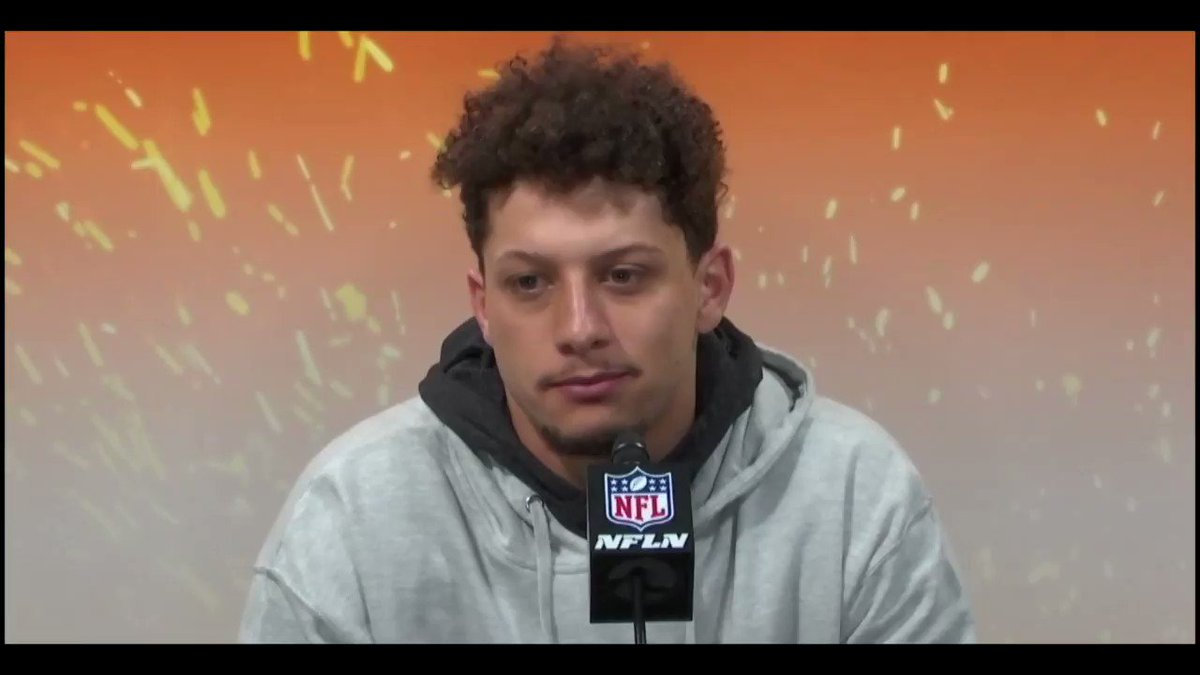 """This is YOUR Quarterback Kansas City...ya'll are in good hands.   """"It hurts right now, it hurts a lot...but we will continue to get better...we can't let this define us""""  #ChiefsKingdom #SuperBowl #Mahomes"""