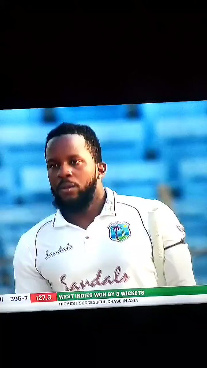 West indies made a history in asia to chase 395 totals to win. This is the hero of match. MAYERS a debutant, lead man to put his country in list of records. 2nd innings century in maiden match was so much classic to watch.2021 starts with record making doubles. Best luck WI team.