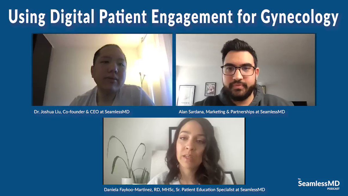 "NEW episode is up!  ""Using Digital #PatientEngagement for Gynecology-Oncology""  Show notes: https://t.co/icNUGIPVbf  Apple Podcasts: https://t.co/o5yfer5zzE  Spotify: https://t.co/nCO6I5LN0s  YouTube: https://t.co/FG78z5qrVV  Enjoy! #podcast #virtualcare #gynonc #patienteducation https://t.co/dBeBGQR1PK"