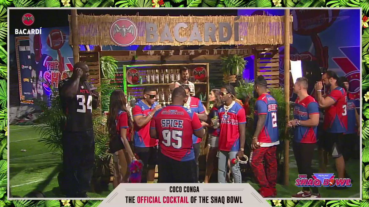 ✨ @BACARDI kept the party going with The Official Cocktail of the SHAQ Bowl, The Coco Conga!
