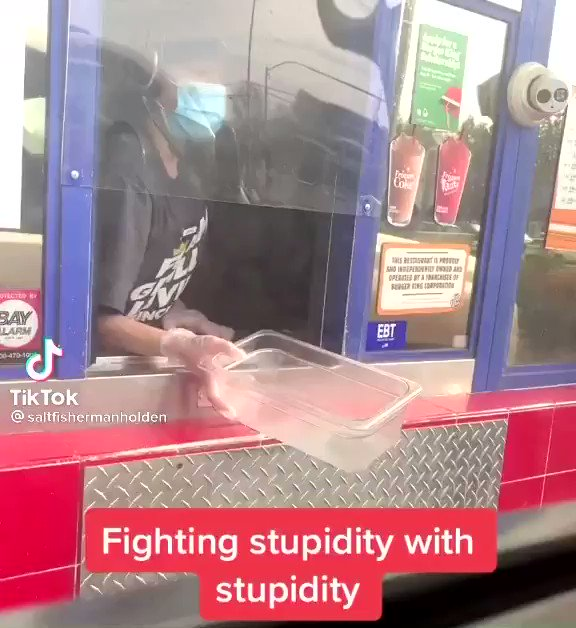 Fighting stupidity with stupidity at the Burger King drive through 🙌🤣 https://t.co/NLsfdoz1xU