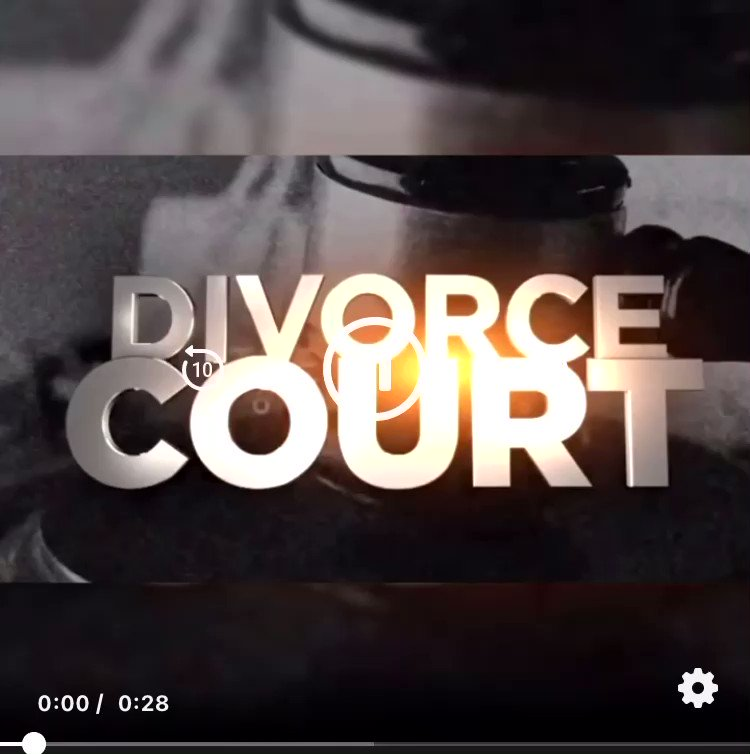 Make sure you watch me on @divorcecourt at 3pm today on #fox or at 7pm on Hulu
