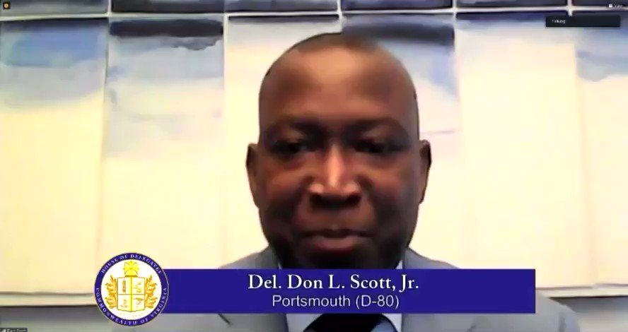 """Del. @DonScott757 emphasized the importance of economic prosperity & opportunities for all. """"It is my prayer that a society that once sought to use the criminal justice system to criminalize Black voices will now move to right the injustices of the past."""""""
