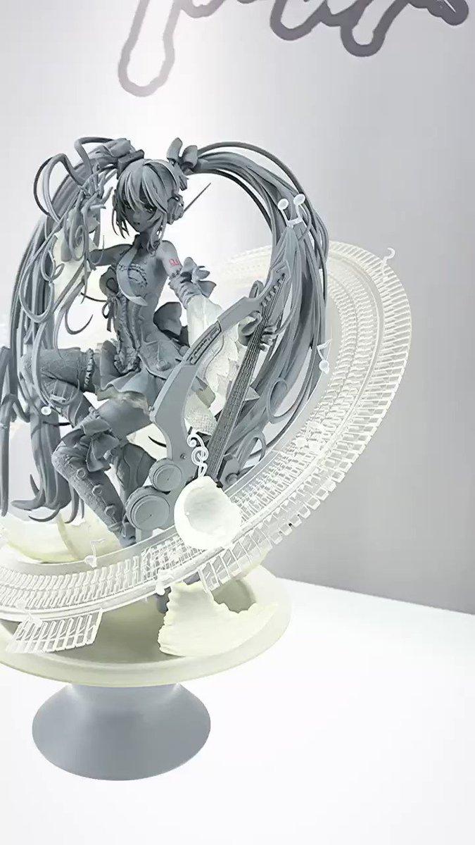 智恵理さん原型のミクさん....フィギュアの造形は一体どこまでいくんだ...という境地....すばらしいすぎて....🙏  #ワンホビ32 #maxfactory #マックスファクトリー #初音ミク