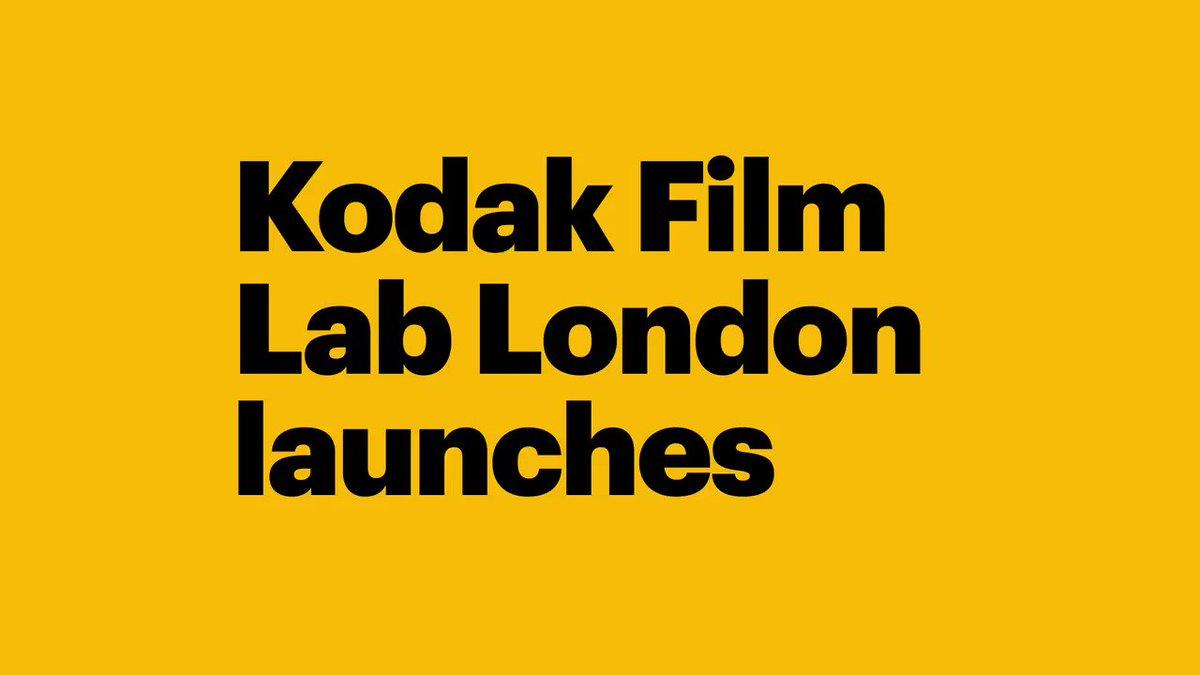 Image for the Tweet beginning: Kodak Film Lab London launches