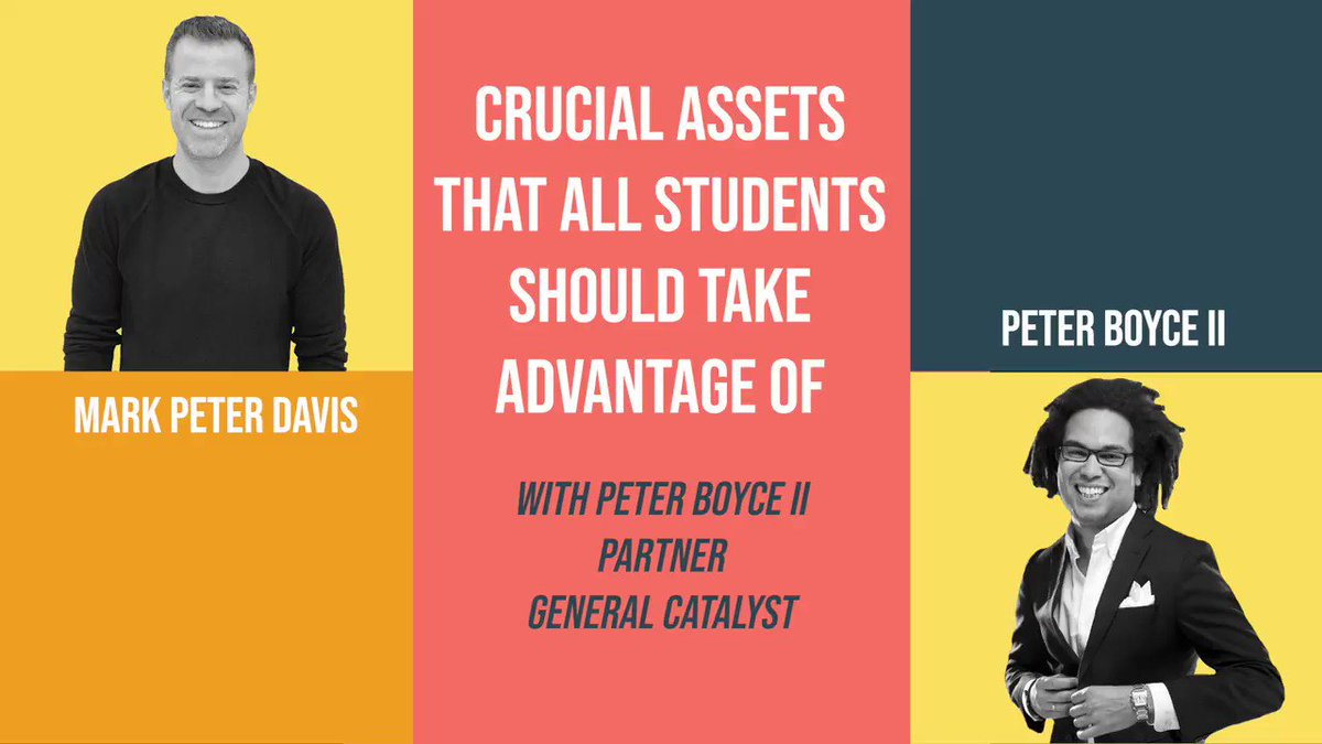 This week's ep is with @badboyboyce of @gcvp.  Peter & I chat about how his firm operates, what assets students can leverage to become better #entrepreneurs, and much more.   Special thanks to Peter for sharing his wisdom!  Listen to the full convo at