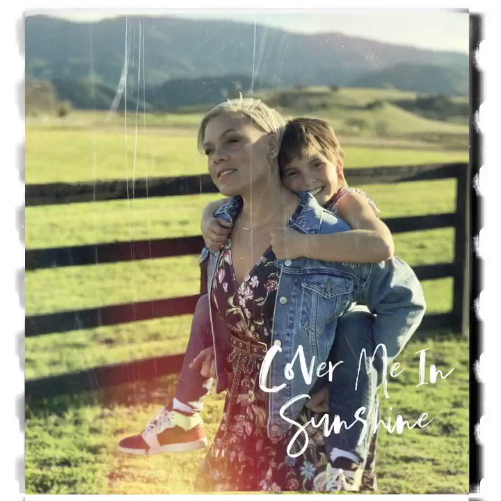"""Cover Me In Sunshine"" with my baby girl is out now!! Hope this one puts a smile on your face 🌞 https://t.co/HPWimNK8hA https://t.co/EYor3S7H3v"