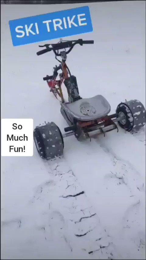 Blasting through the snow... Full video on YouTube #SnowDay #skitrike #motorcross #offroad