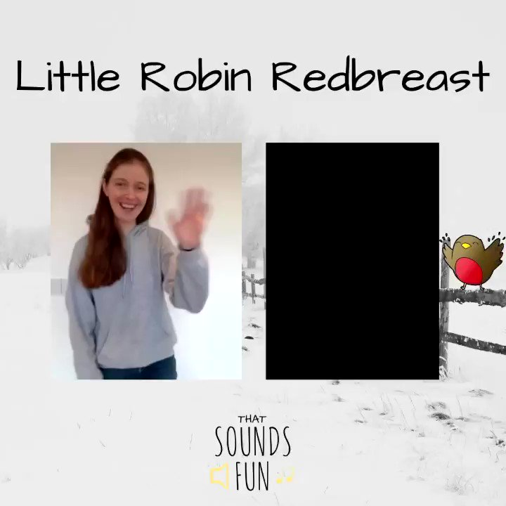 Getting back to nature today with a cute song about a little Robin 🌲❄️   #thatsoundsfun #robinredbreast #itssnowing #snowday #funinthesnow #littlerobin #whistleahappytune #singtogether #nurseryrhymes #singalong #communitymusic
