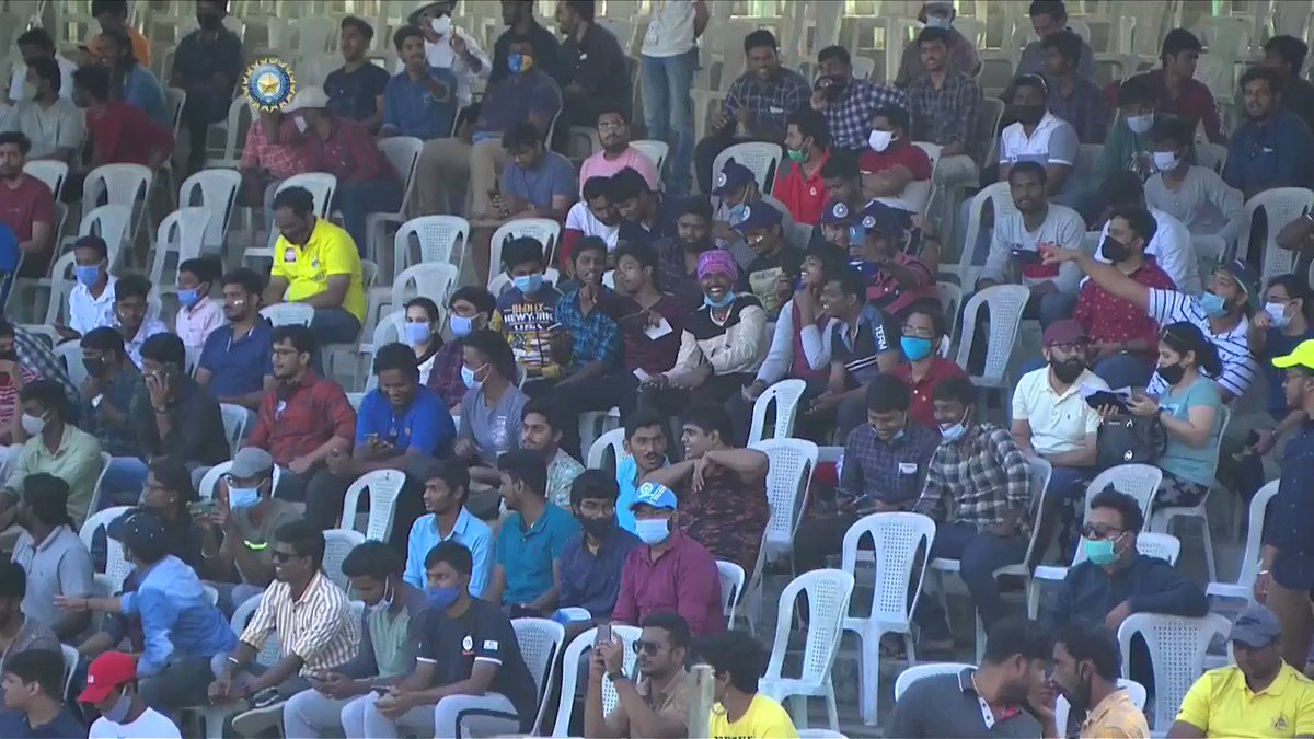 Replying to @BCCI: It's good to have you back #TeamIndia fans 💙  Chepauk 🏟️ has come alive courtesy you 🤗 #INDvENG @Paytm