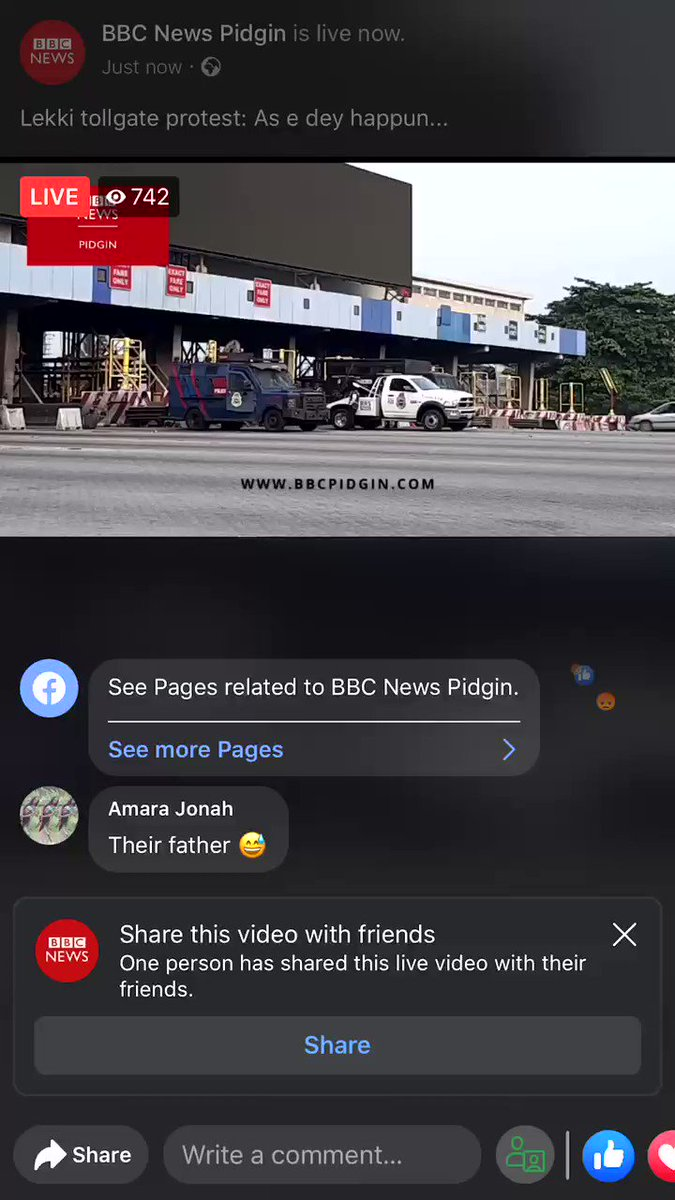BBC is broadcasting #Lekkitollgate live on Facebook, whatever they do today would be seen by the whole world !!!   Spread 🚨