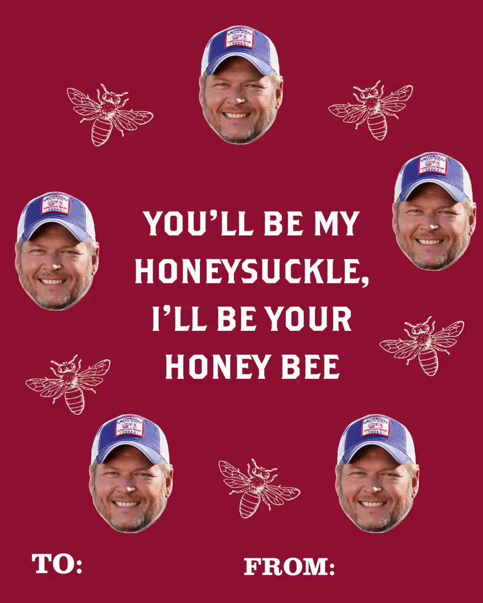 Screenshot to see which @blakeshelton Valentine is calling your name 😘