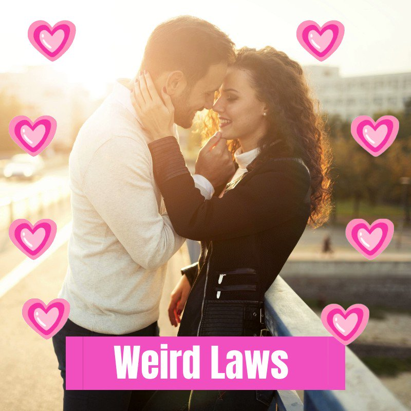 """Avoid PDA if you travel to Dubai! Kissing & """"petting"""" are considered offenses to public decency there. #WeirdLaws #ValentinesDay"""