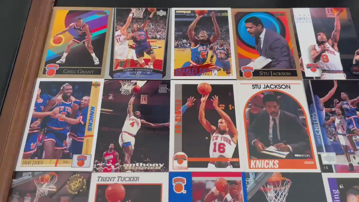 I threw everything away from back in the day but of course I kept all my 80's and 90's knicks cards!!