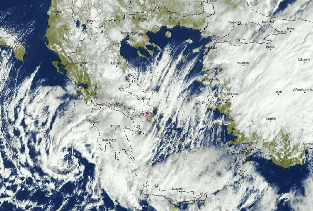 13 Φεβρουαρίου 2021-Ωρα 13: 00 Η Δορυφορική δείχνει ότι τα χιόνια έχουν σταματήσει στα βόρεια. Αντίθετα από Θεσσαλία και νοτιότερα θα συνεχιστούν με μεγάλες εντάσεις έως το βράδυ της Τρίτης. Ένας δύσκολος χιονιάς μετά το 2008 και το 2004 . Θα επικαιροποιηθεί το #ΕΔΕΚΦ σε λιγο