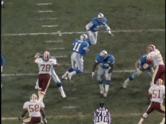 Darrell Green pick 6 vs the #Lions 1991 #NFCChampionship #WashingtonFootball