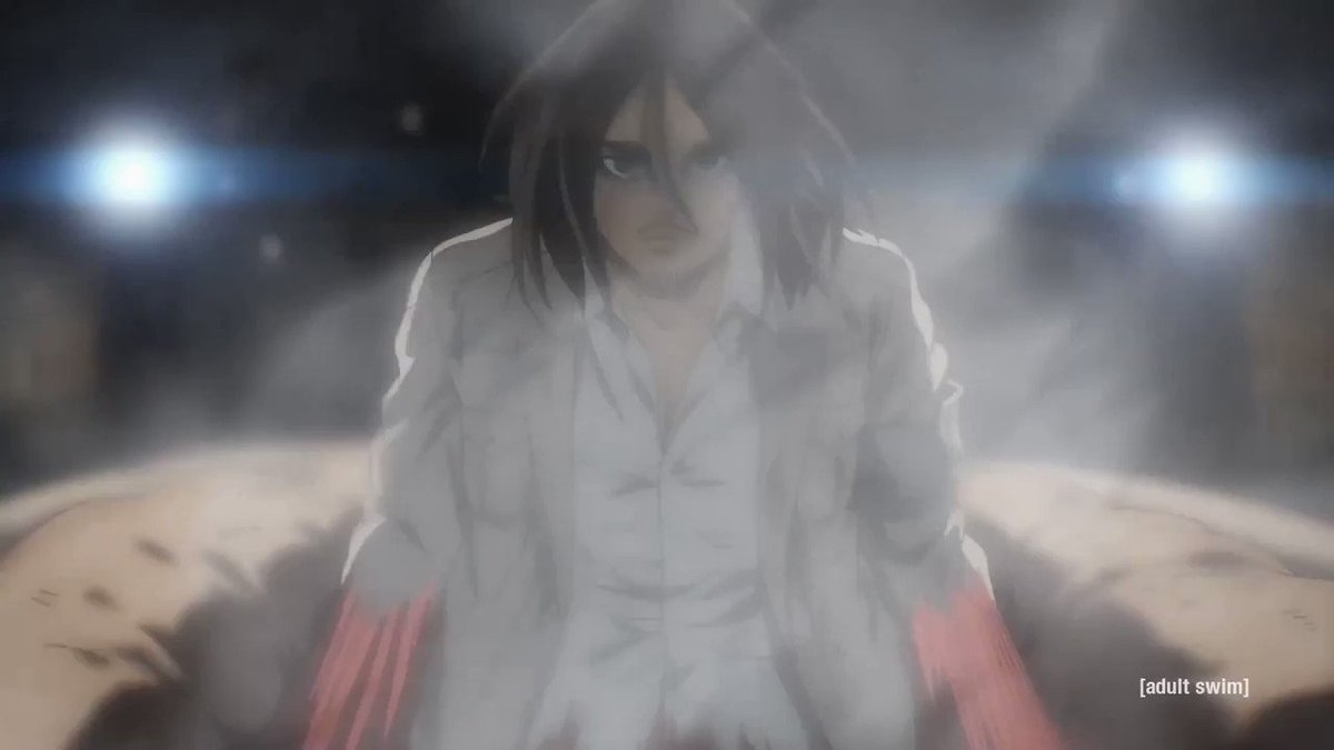 "Even dubbed ""It's time.... Mikasa."" Still gives me chills #AttackonTitanFinalSeason #AttackOnTitan #AOTWarHammerTitan #ShingekiNoKyojin #進撃の巨人 #エレン・イェーガー #ミカサ・アッカーマン"