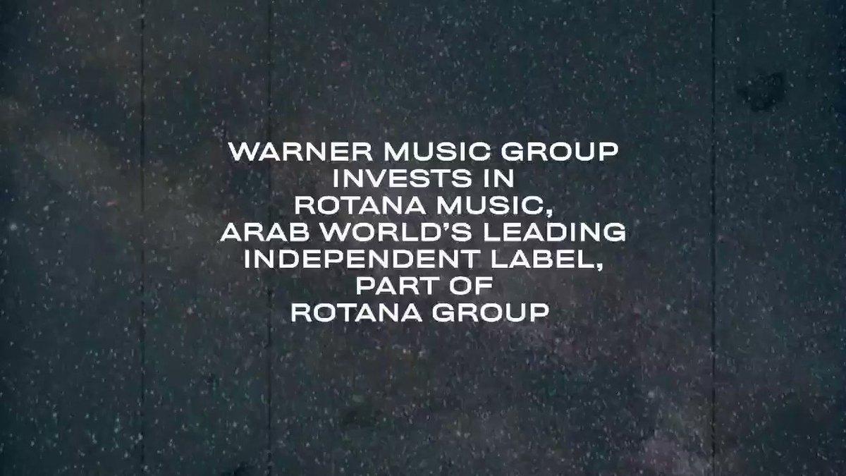 #WarnerMusic group invests in #RotanaMusic, arab world's leading independent label, part of  Rotana group  Full press 👇   @Alwaleed_Talal @salhendi @warnermusic