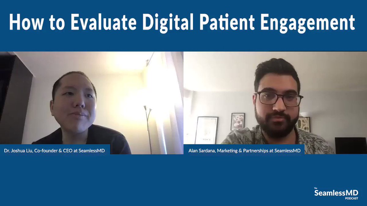 "NEW episode is up!  ""How to Evaluate Digital #PatientEngagement""  Show notes: https://t.co/npshKKJdsx  Apple Podcasts: https://t.co/8xr0IzC9uE  Spotify: https://t.co/00MZtREVVa  YouTube: https://t.co/bY0B7wvzqH  Enjoy!  #podcast #virtualcare #mHealth #remotemonitoring https://t.co/Xb6ldh9388"