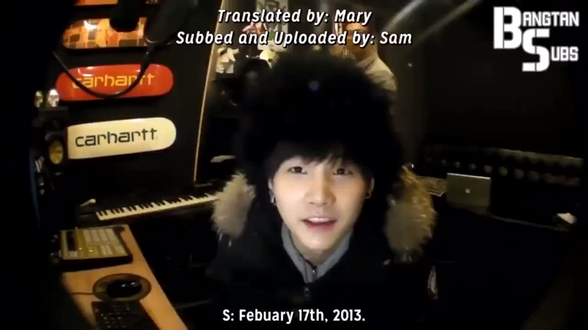 [THROWBACK] 8 years ago today, Yoongi uploaded his first log on YouTube after being revealed as an official member of @BTS_twt  #YoongiFirstLog