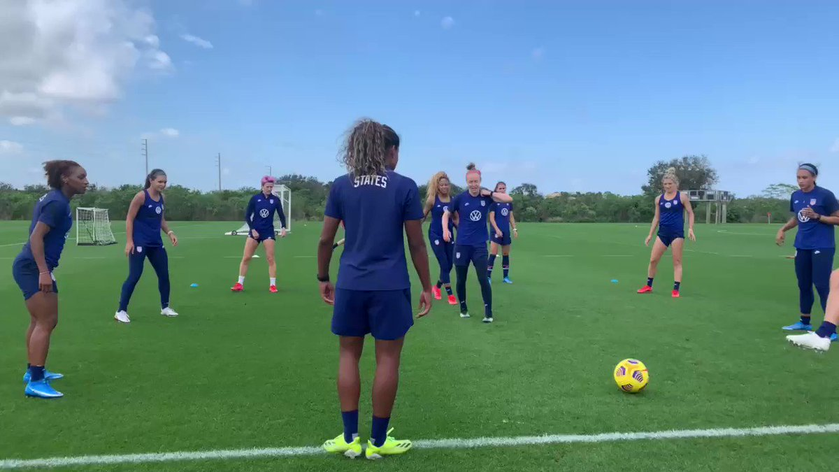 Replying to @USWNT: Pre-cup prep in full swing 💪