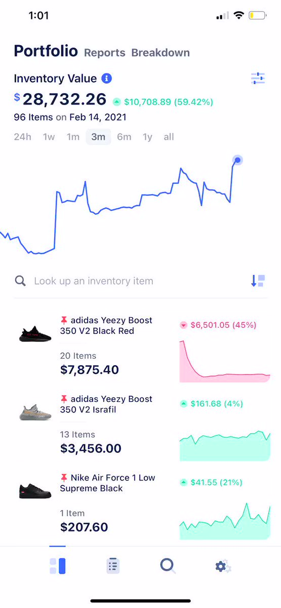 Inventory Value Growth 📈  Scout now shows you exactly how much your inventory grows in real time.   Get used to checking this every morning. 😉