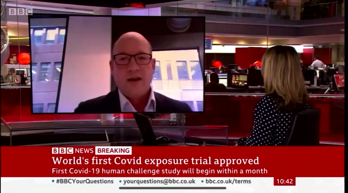 Aged 18 - 30? Healthy? Non-smoker? Got 2 wks free? Want to be paid £4500? Then volunteer for the world's first covid 19 'human challenge' here in the U.K. where you'll be infected with live coronavirus to test new vaccines Here's Dr Andrew Catchpole from @hVIVO with more: