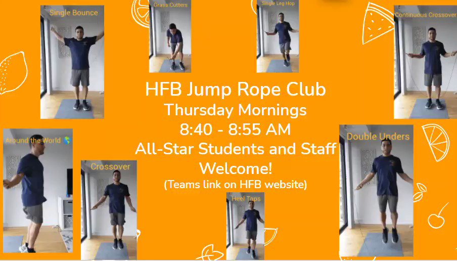 Looking forward to HFB Jump Rope Club tomorrow morning!!! <a target='_blank' href='https://t.co/IwUDByBrhZ'>https://t.co/IwUDByBrhZ</a>
