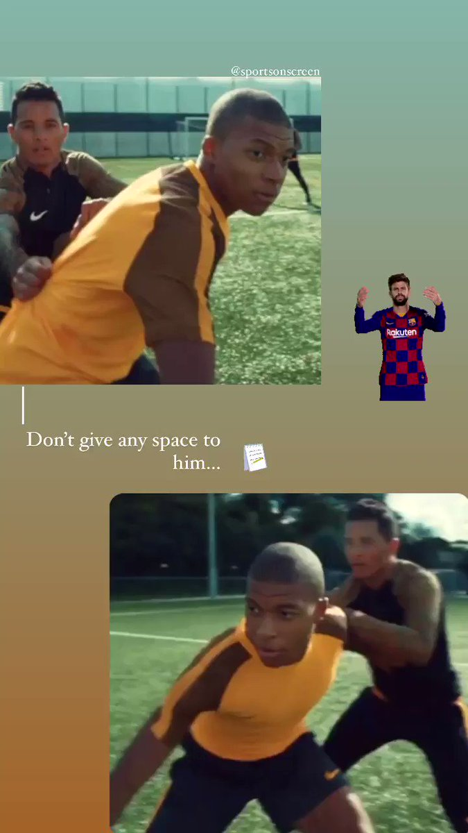 You will learn how to stop him soon Gerard😅#gerardpique #mbappe #football #lamoto #psg #barca #ChampionsLeague #chocolate  @SportsOnScreen 💥⚽️