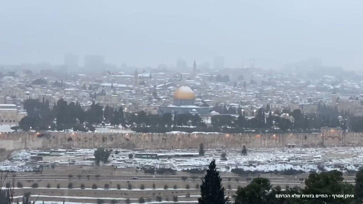 أفيخاي يغرد : عندما تكتسي عاصمة إسرائيل أورشليم القدس باللون الأبيض، تتجلى العراقة بأبهى معانيها.  @AsrafEitan
