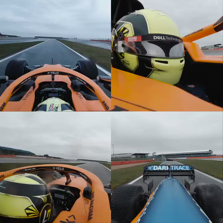 4️⃣ ways to watch our number 4️⃣  Take a special multi-angle view of @LandoNorris's lap around @SilverstoneUK in the #MCL35M.   Full video 🎥➡️ https://t.co/XFs9vcFjXt