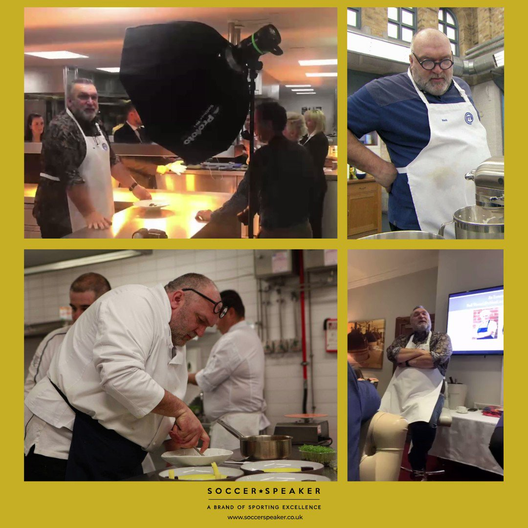 Our very own @RealRazor can cook one hell of a meal! After competing in the 2019 @MasterChefUK Final, Razor was invited to cook for 60 people at an exclusive event at the Michelin Star graded @NorthcoteUK, with executive chef @_LisaAllen. #Events #SportsStars #CelebrityChef