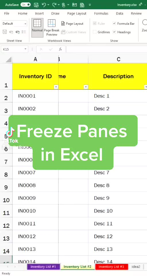 This Micro Tip will show you how to Freeze Panes in Excel 🥶 👉 vm.tiktok.com/ZMeNufKyR/ #edtech #mieexpert #STEM