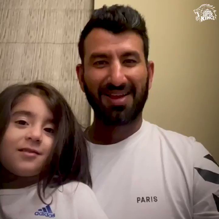 A cute yellovely message from the legend of Che Pu to make your day super! @cheteshwar1 💛💛 #WhistlePodu #Yellove 🦁