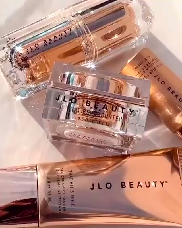 Dripping in THAT rose gold. ✨ Which #JLOBEAUTY products are you living for right now?! Share your favorites down below. ⬇️  🤍Shop That JLo GLow 4-Piece Kit at @Sephora.  🎥: @fabbeautyboss
