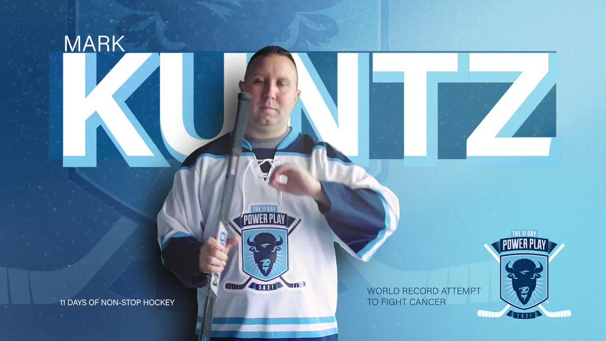 """Introducing #11DPP #Frozen40 player Mark Kuntz. @7thManSabres will play in an 11 day hockey game in memory of his father. """"His last words to me were...good kid good kid.""""  Produced by Uplifter Video"""