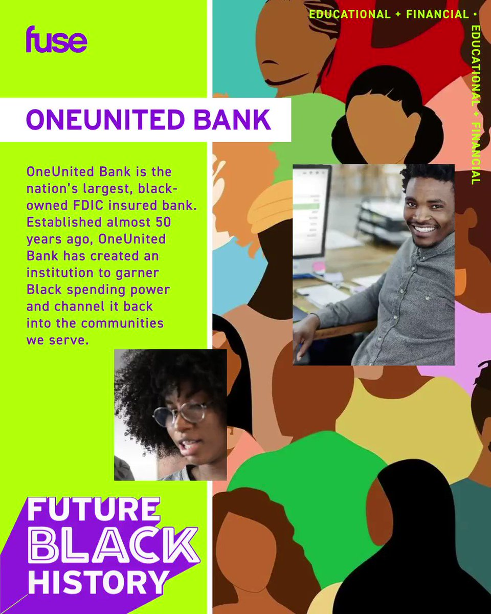 .@OneUnited is the nation's largest, black-owned FDIC insured bank. Established almost 50 years ago, OneUnited Bank has created an institution to garner Black spending power and channel it back into the communities we serve.